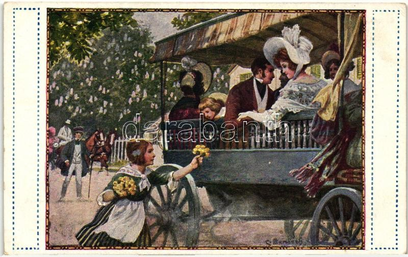 "Aus dem ""Dreimäderlhaus"" / Austrian folklore, G.G.W. II. Nr. 269. s: C. Benesch"