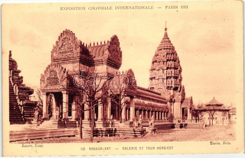 1931 Paris, Exposition Coloniale Internationale; Angkor Wat temple
