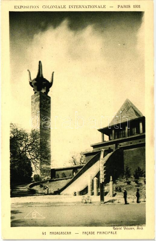 1931 Paris, Exposition Coloniale Internationale; Pavilion of Madagascar