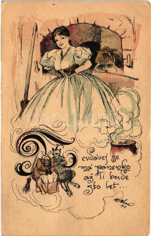 Lady, Krampus, humour s: Oldr. Cihelky