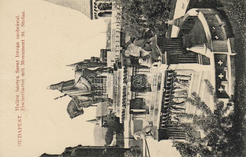 Budapest I. Halászbástya, Szent István szobor