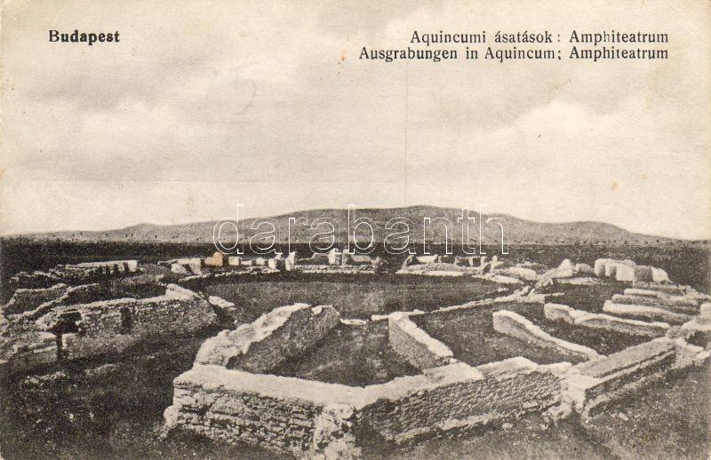 Budapest III. Aquincumi katonai amfiteátrum, ásatások