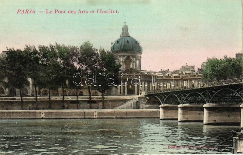Paris, Le Pont des Arts et l'Institut / bridge