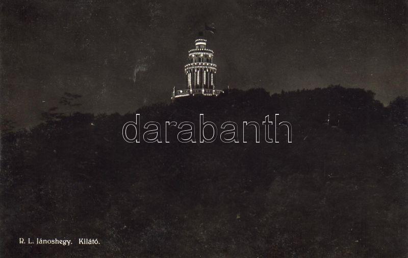 Budapest XII. Zugliget, Jánoshegy, Erzsébet kilátó torony, este