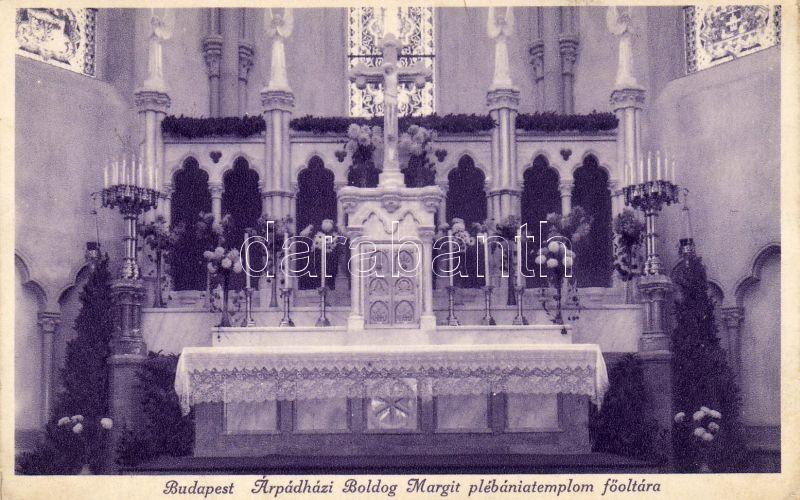 Budapest XIII. Árpád-házi Szent Margit-templom, Főoltár, belső