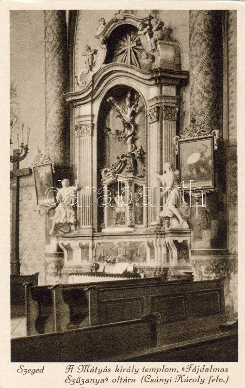 Szeged, Mátyás király templom, Fájdalmas Szűzanya oltár, belső
