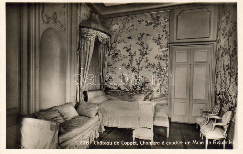 Coppet, Coppet Castle, Madame Récamier's bedroom, interior