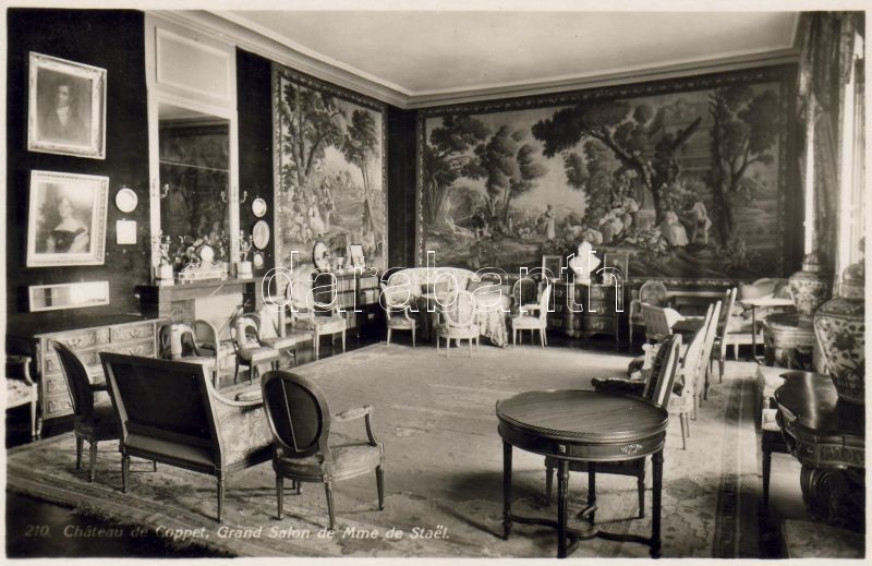 Coppet, Coppet Castle, Madame de Staël's Grand Salon, interior