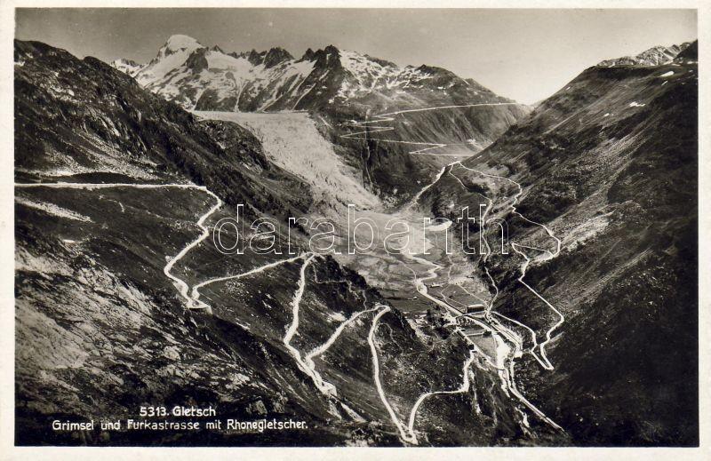 Gletsch, Grimsel and Furkas Pass, Rhone Glacier