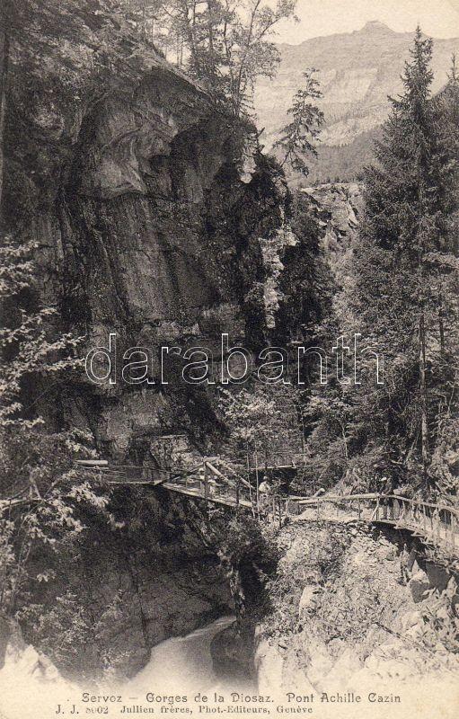 Servoz, Gorges de la Diosaz, Pont Achille Cazin / gorge, bridge