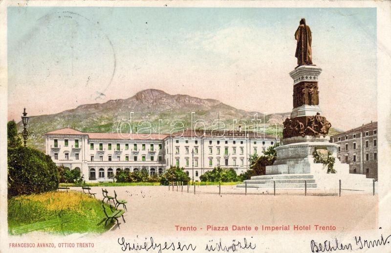 Trento, Piazza Dante, Imperial Hotel Trento / square, hotel