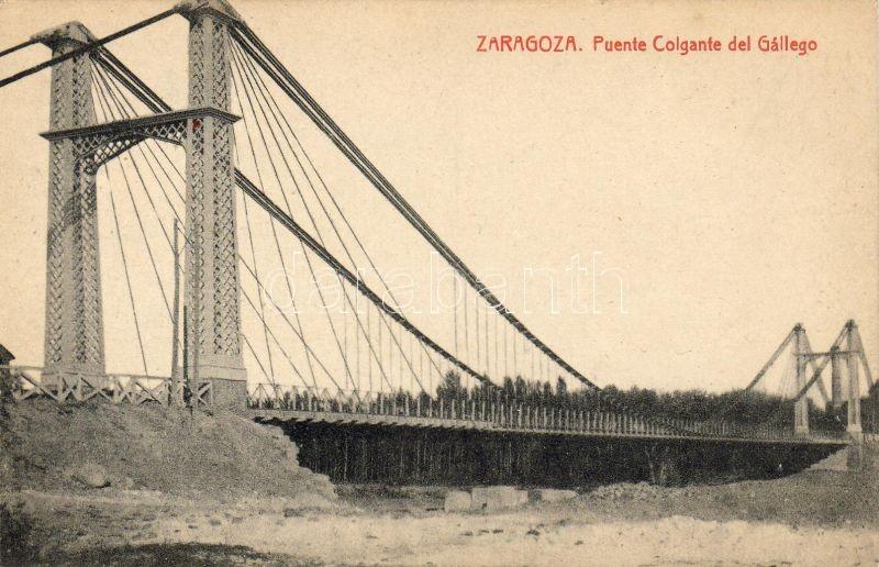 Zaragoza, Puente Colgante del Gallego / bridge