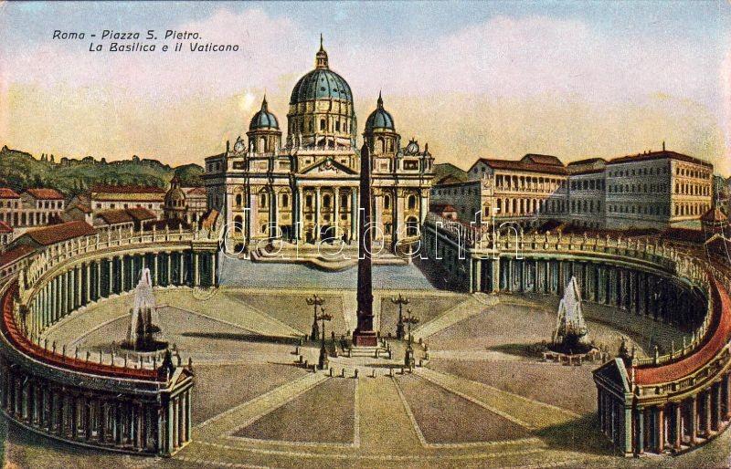 Rome, Roma; Piazza S. Pietro, La Basilica, Vaticano