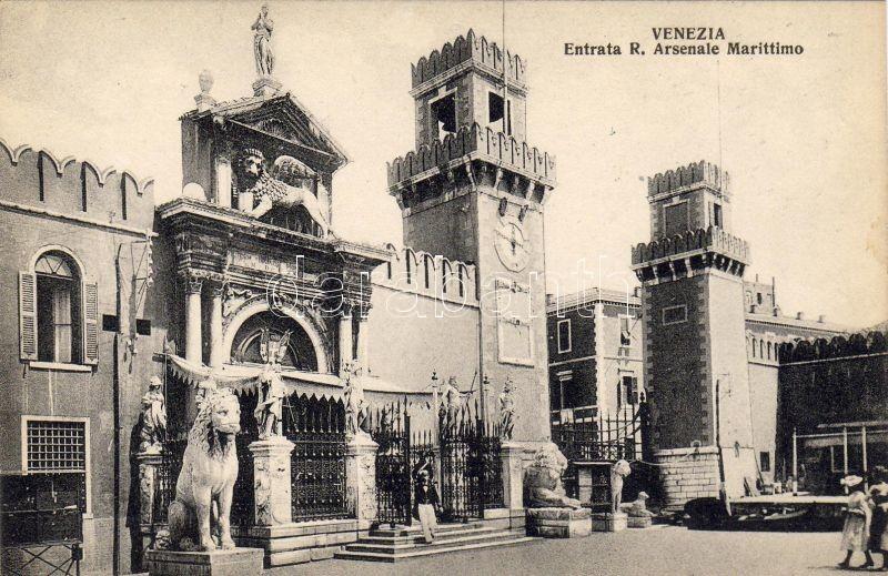 Venice, Venezia; Entrata R. Arsenale Marittimo / Entry of the Venetian Arsenal