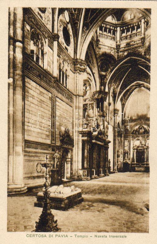 Pavia, Certosa di Pavia, Tempio, Navata trasversale / monastery, temple, transept, interior