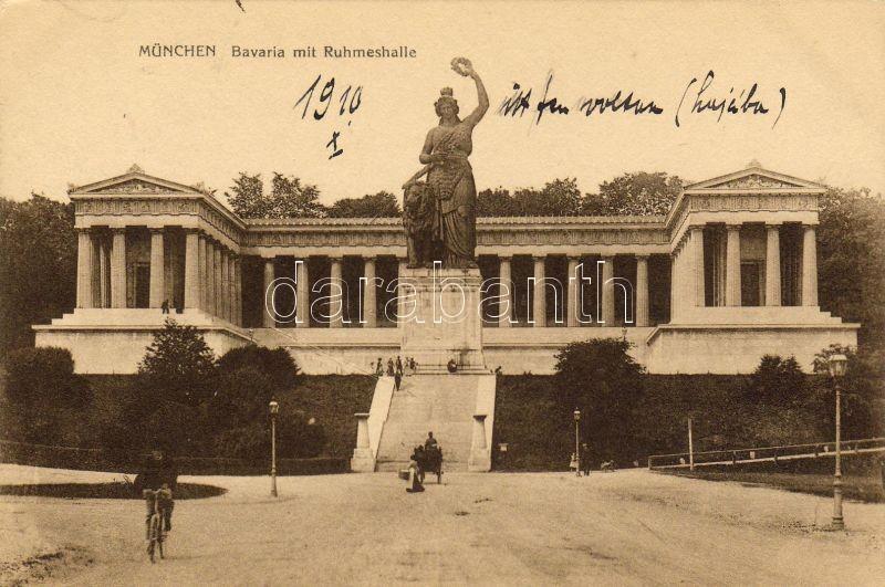 München, Bavaria statue, Ruhmeshalle