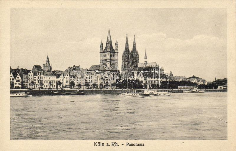 Köln, Cathedral, Great St. Martin Church, steamship
