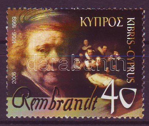 Rembrandt margin stamp, Rembrandt ívszéli bélyeg, Rembrandt Marke mit Rand