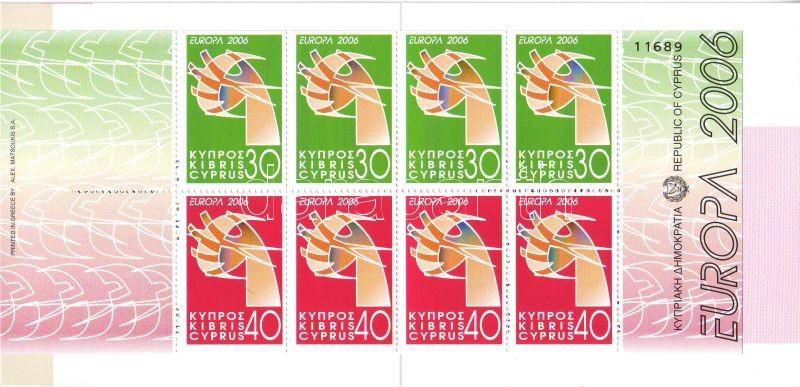 Europa CEPT stamp booklet, Europa CEPT bélyegfüzet, Europa CEPT Markenheftchen