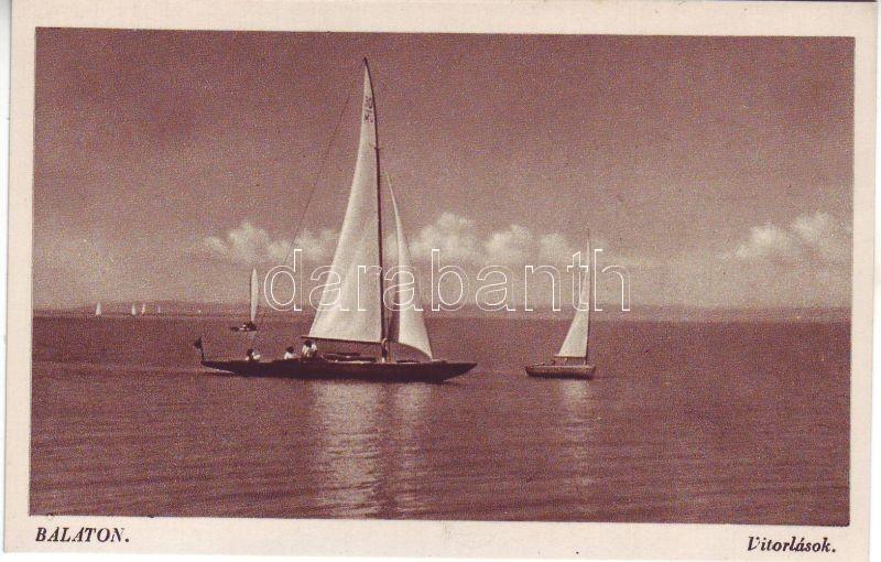 Balaton, vitorlás hajók