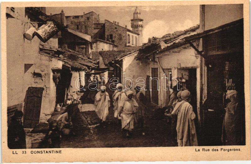 Constantine, Forgerons street, merchants, folklore