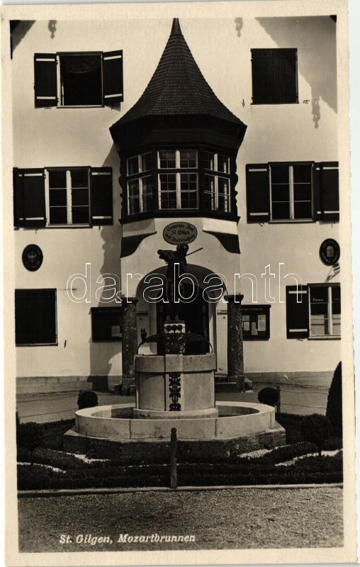 St. Gilgen, Mozartbrunnen / fountain