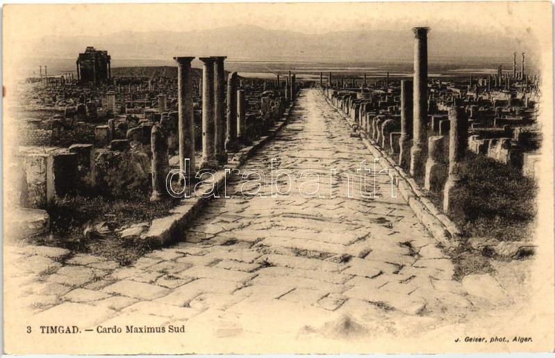Timgad, Cardo Maximus Sud