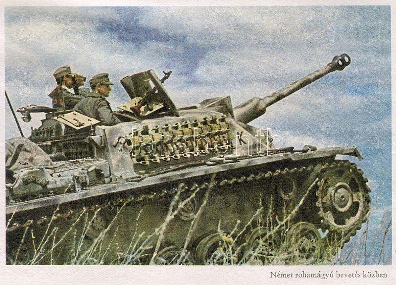 WWII German cannon in mission, WWII Német rohamágyú bevetés közben