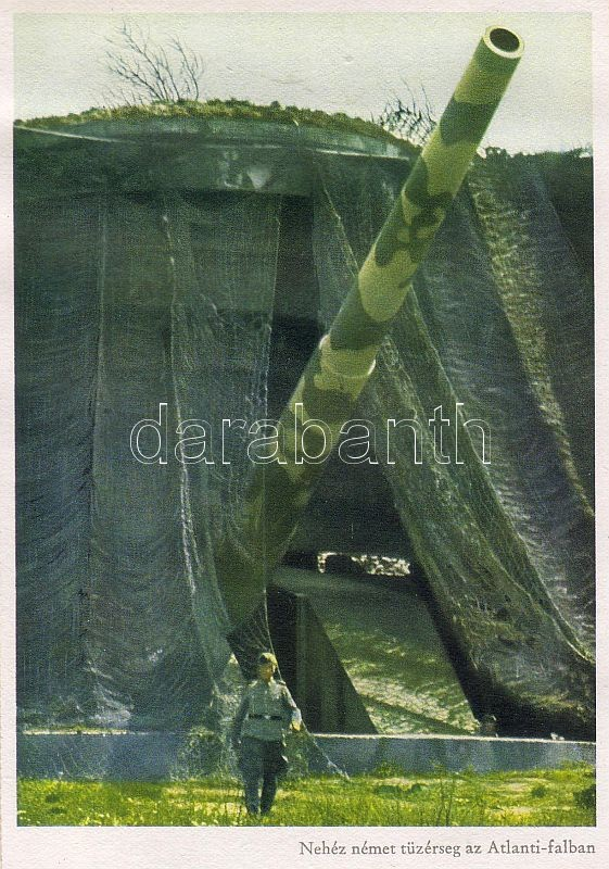 WWII Atlantic Wall, German heavy artillery, WWII Atlanti-fal, Nehéz német tűzérség