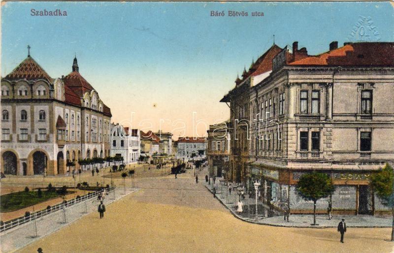 Subotica, Báró Eötvös street, Lowy fashion shop, Szabadka, Báró Eötvös utca, Lowy divatáruház