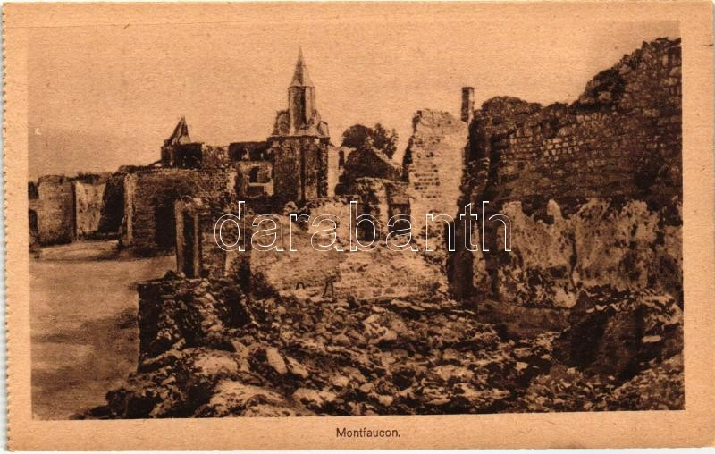 Montfaucon, WWI destroyed buildings