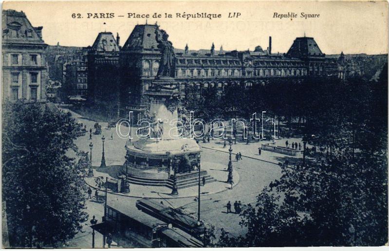 Paris, Republic square, trams