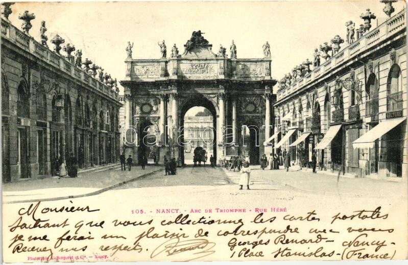 Nancy, Triumph arch, Rue Here