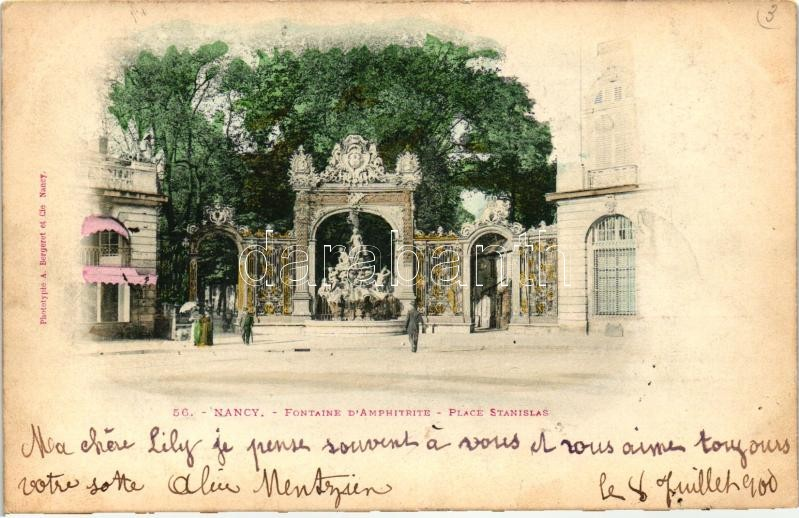 Nancy, Stanislas square, Amphiteatrum fountain