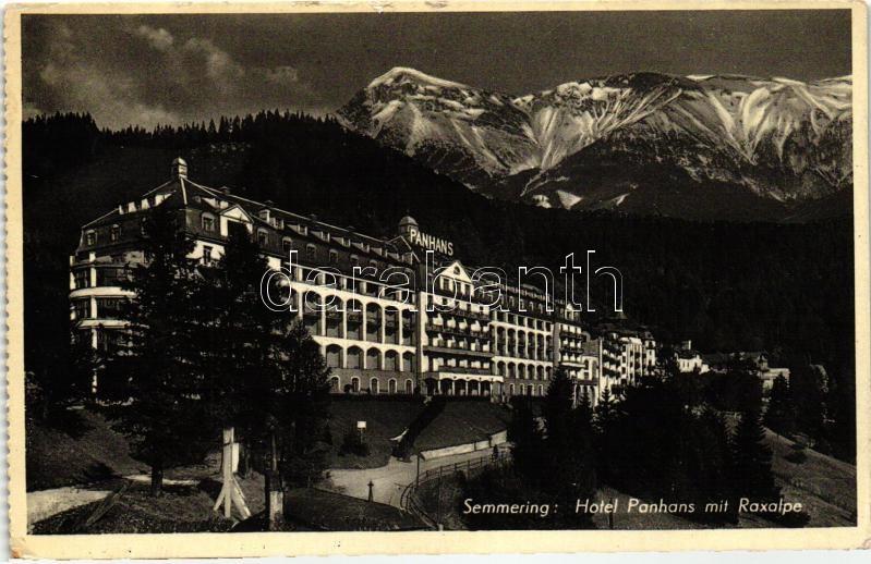 Semmering, Hotel Panhaus, Raxalpe