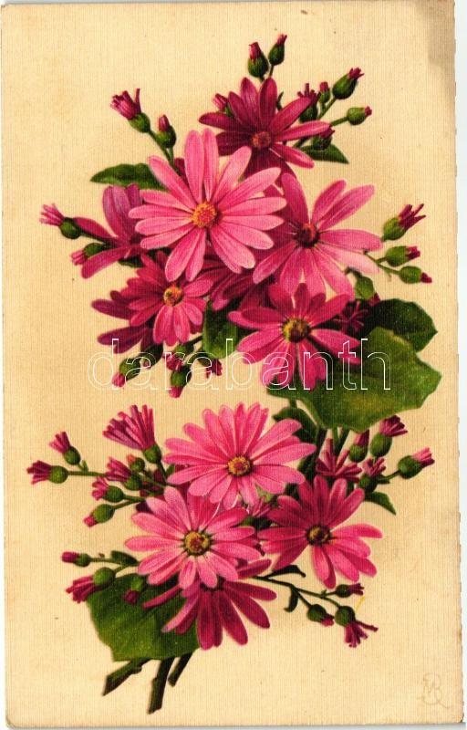 Flower still life, G.O.M. No. 1945, s: MB, Csendélet virággal, G.O.M. No. 1945, s: MB
