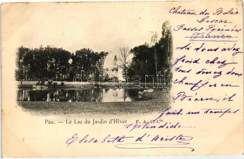 Pau, Le Lac de Jardin d'Hiver / lake, winter garden