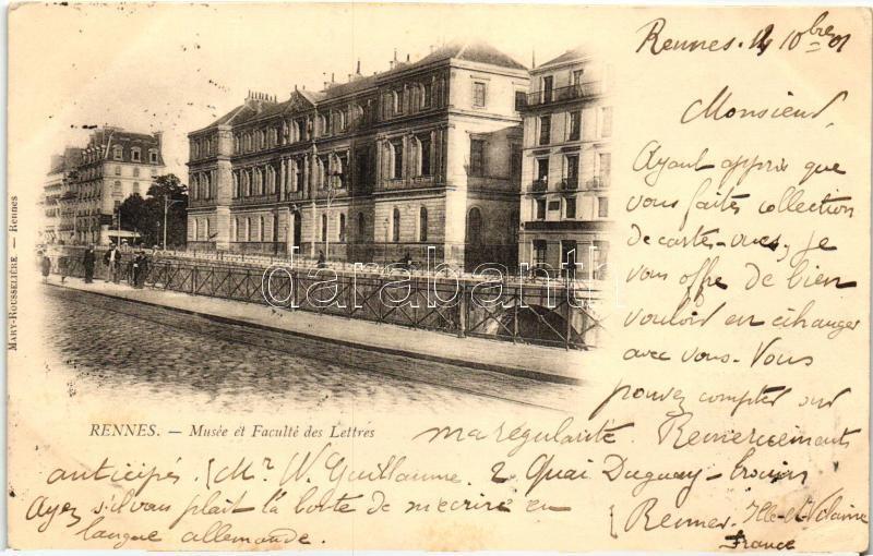 Rennes, Musée, Faculte des Lettres / museum, Faculty of Arts
