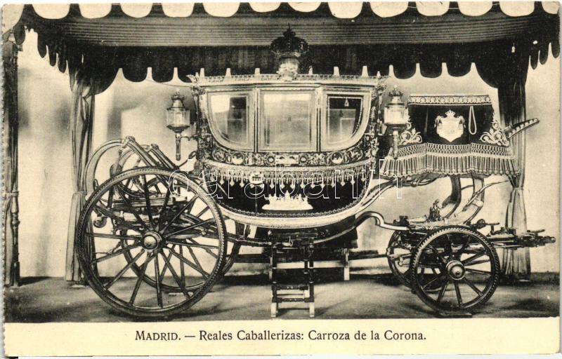 Madrid, Reales Caballerizas, Carroza de la Corona / royal barns, crown carriage