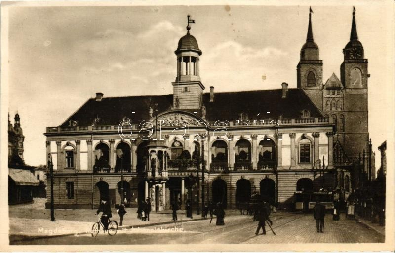 Magdeburg, Rathaus, Johanniskirche / town hall, church