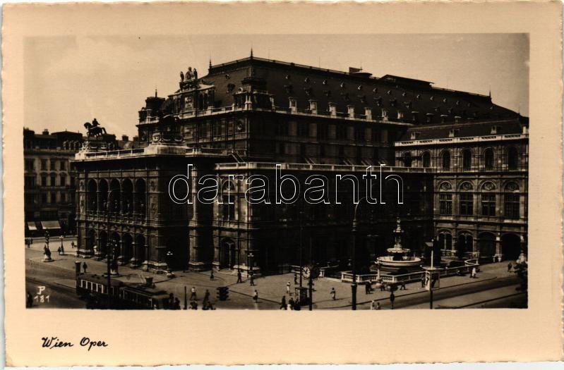 Vienna, Wien; Opera house, tram
