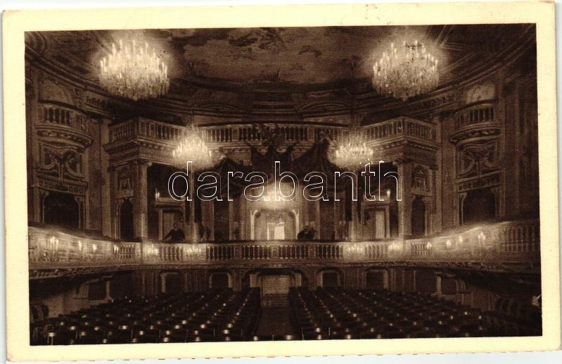 Vienna, Wien; Schloss Schönbrunn, Schlossteather / royal palace, theatre, interior