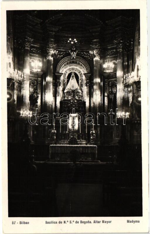 Bilbao, Basilica de N.S. de Begona, Altar Mayor / church interior, main altar