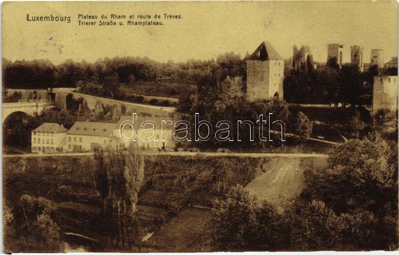 Luxembourg, Plateau du Rham, route de Treves / road