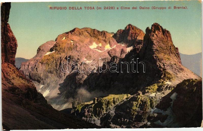 'Rifugio Della Tosa e Cime del Daino - Gruppo di Brenta' / Tosa Rest House in the Brenta Mountains