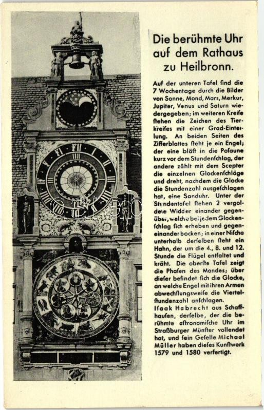 Heilbronn, Uhr auf dem Rathaus / town hall clock