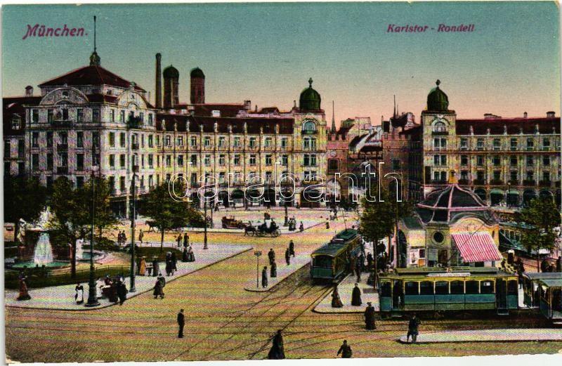 München, Karlstor-Rondell / square, trams