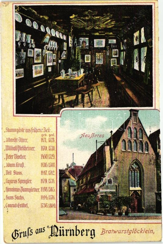 Nürnberg, Bratwurstglöcklein / restaurant interior