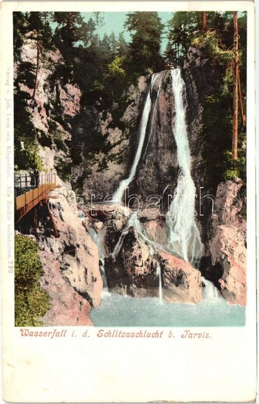 Tarvisio, Tarvis; Wasserfall i. d. Schlitzaschlucht / waterfall