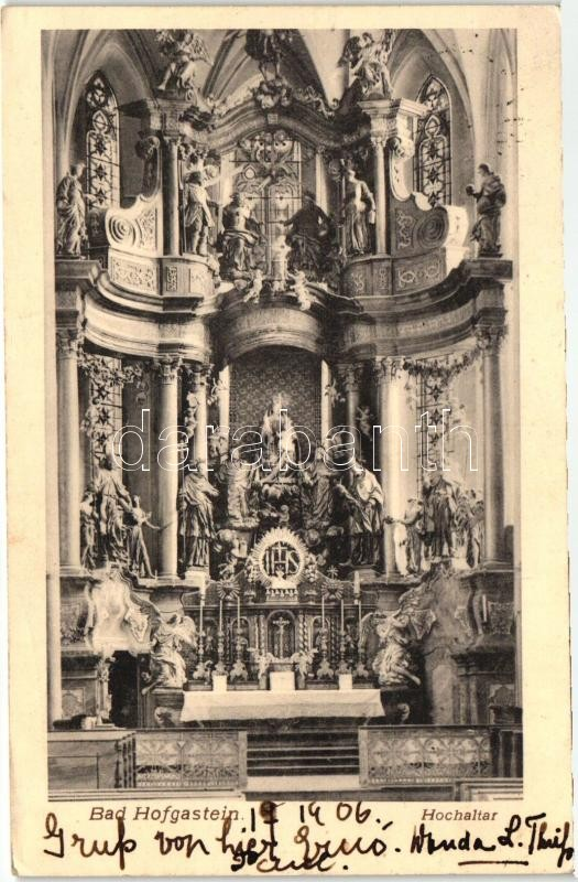 Bad Hofgastein, Hochaltar / church interior, altar